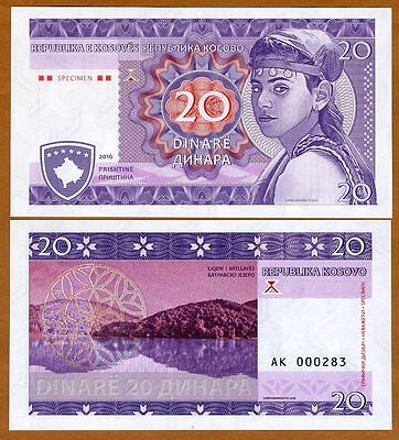 Kosovo, 20, 2016, Limited Private issue, Specimen, UNC