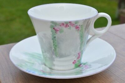 6 x Vintage Shelley Bone China Art Deco Cups & Saucers