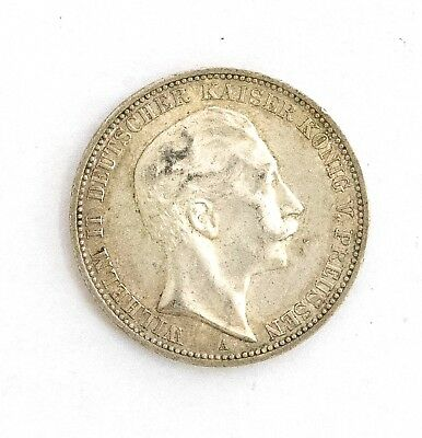 Germany(Prussia) 1912A Silver Crown 3 Marks/VF-XF