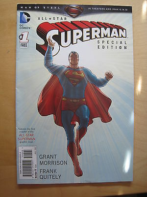 All Star Superman # 1 : Limited Edition Free Comic. Morrison & Quitely. Dc. 2013