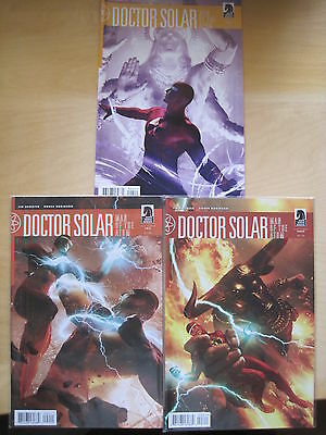 DOCTOR SOLAR #s 2, 3, 4 by SHOOTER & ROBINSON. CLASSIC TITLE. DARK HORSE. 2010