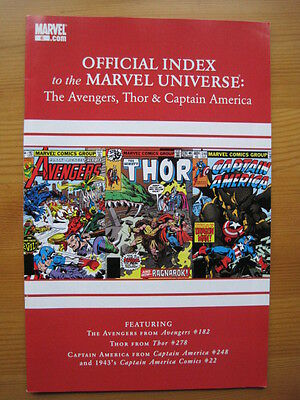Official Index of the MARVEL UNIVERSE  # 6 - AVENGERS,THOR,CAPTAIN AMERICA. 2010