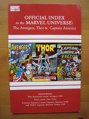 Official Index of the MARVEL UNIVERSE  # 3 - AVENGERS,THOR,CAPTAIN AMERICA. 2010