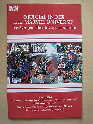 Official Index of the MARVEL UNIVERSE  # 12 - AVENGERS,THOR,CAPTAIN AMERICA.2010