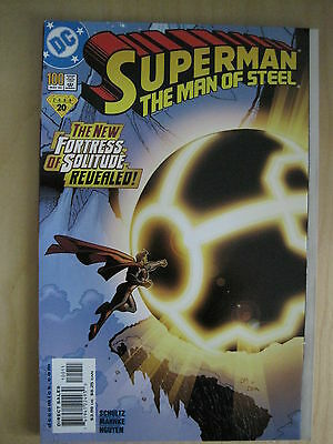 SUPERMAN THE MAN of STEEL 100. 48pgs.Fold Out Covr.NEW FORTRESS OF SOLITUDE.2000
