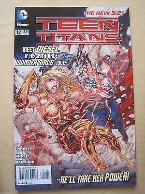 TEEN TITANS  # 12  by LOBDELL & BOOTH.    THE NEW 52 !     DC.  2012