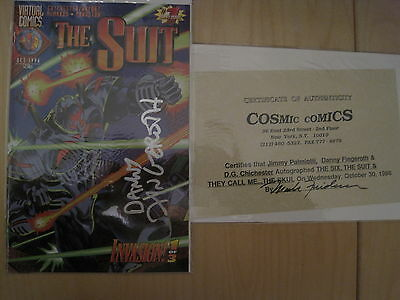 The SUIT 1 & The 6 #1:BOTH signed by DANNY FINGEROTH. AUTHENTICATED.VIRTUAL.1996