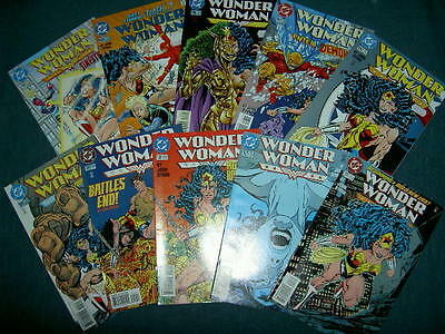 WONDER WOMAN #s 101 - 110. 1st 10 ISSUES OF THE NEW JOHN BYRNE RUN. CLASSIC.1990