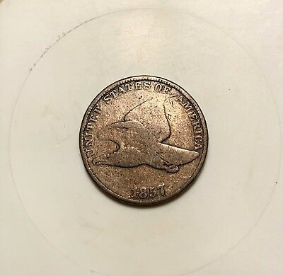 1857 Flying Eagle One Cent - Nicer Grade - Flying Eagle - 1c
