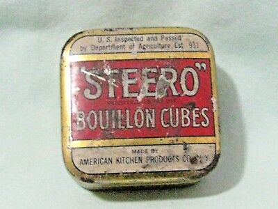 Steero Bouillon cubes tin box American Kitchen Products New York