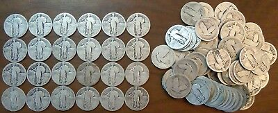 LOT OF 84 STANDING LIBERTY QUARTERS (24 With Date & 60 No Date) AG-G