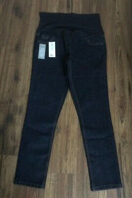 "George Maternity Blue Denim Over Bump Skinny Jeans Size Uk 14  Leg 29"" - New"