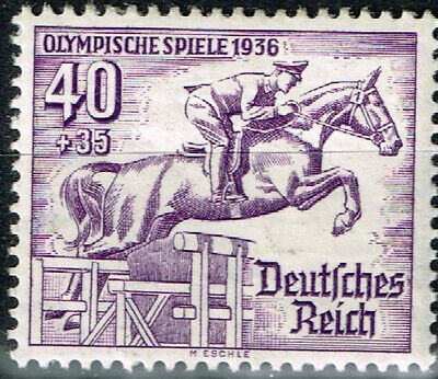 Germany Third Reich Berlin Summer Olympic Games stamp 1936 Horizontal Bar MLH