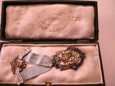 CASED FOUNDER'S MEDAL - MANOR LODGE No. 4202