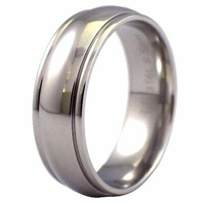 Traditional Wedding Band Mens Womens Stainless Steel Ring 7mm Size 5-15
