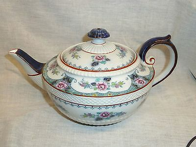 antique teapot colourful hancock and son staffordshire corona ware tokio flowers