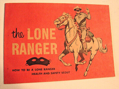 1954 The Lone Ranger Health and Safety Club Merita Bread 16pp Premium COMIC BOOK