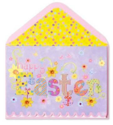 """""""Warm Wishes for Special Easter Day & Wonderful Spring"""" 3D PAPYRUS CARD $7 RTL"""