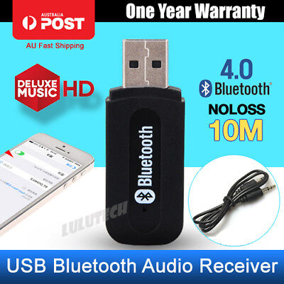 Wireless Car Bluetooth Audio USB Receiver Adapter Music Dongle AUX A2DP Car
