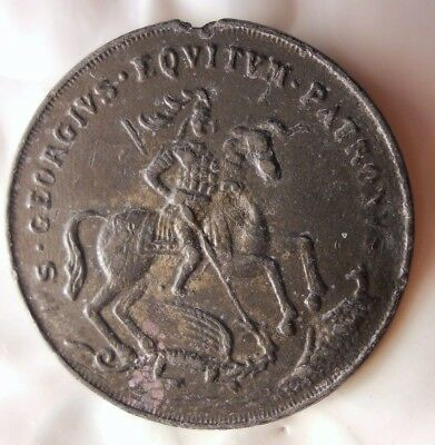 1850 ca RELIGIOUS TOKEN - JESUS ON THE BOAT - INTEMPESTATE SECURITAS - Lot #F23