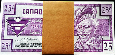 95 Consecutive 1996 Vintage Canadian Tire Money 25 Cent Coupon Notes