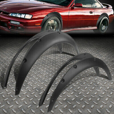 """Universal Fit Most Rear Wheel Driver Car 1.8""""f/2.5""""r Pocket-Riveted Fender Flare"""