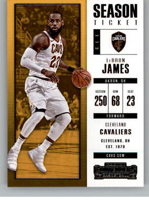 2017-18 Panini Contenders Season Ticket Basketball Cards Pick From List