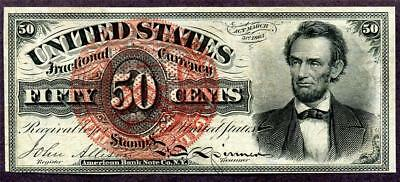 HGR FRIDAY .50cent 4th Issue ((RARE Lincoln)) Appears CHOICE UNCIRCULATED