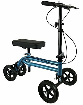 NEW KneeRover Economy Knee Scooter Steerable Knee Walker Metallic Blue