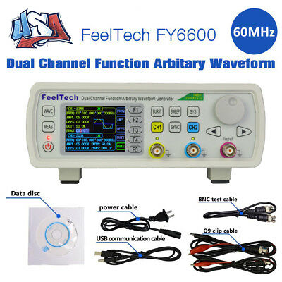 NEW FY6600 60MHz Dual-channel Function DDS Waveform Signal Generator Counter US