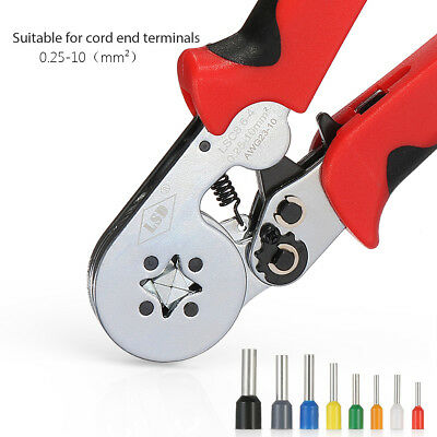 0.25-10mm² Self-adjusting Terminal Wiring Harness Crimping Pliers Ratchet Tool