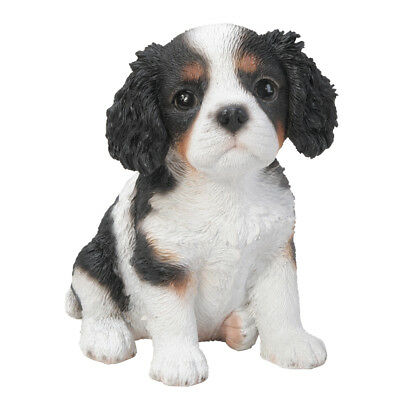 New PUPPY DOG Figurine Statue KING CHARLES SPANIEL Sculpture Figure HOME DECOR
