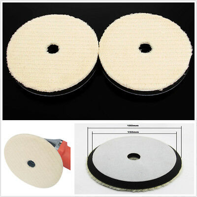 "Economical 2X Car Body Care Woolen Polishing Pad 7"" Cleaning Waxing Buffing Kit"