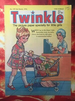 TWINKLE  COMIC NO. 319. 2 MARCH 1974.  VFN. Dress Twinkle. Puzzles Not Done.