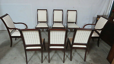Set Henkel Harris Dining Room Chairs Mahogany Eight