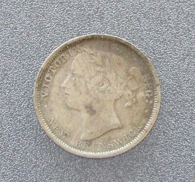 1864 New Brunswick 20 Cents Silver, Item# 5796