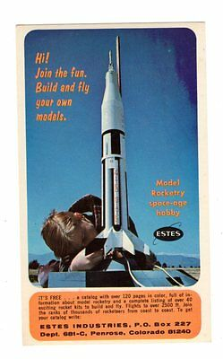 Postcard Model Rocketry Space Age Hobby Estes Industries Rocket Saturn 1 Card #1