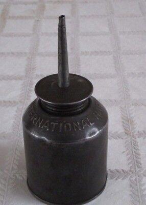 "Vintage Old Ih International Harvester Oil Can- Embossed-6.5""- Vgc"