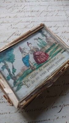 CHARMING RARE ANTIQUE FRENCH TIMEWORN BASKETWORK PATCH BOX 18th C ATTIC FIND