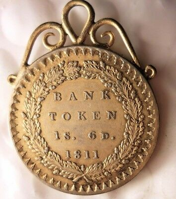 1811 GREAT BRITAIN 1 SHILLING 6 PENCE - Bank Token - GORGEOUS JEWELRY - #F24