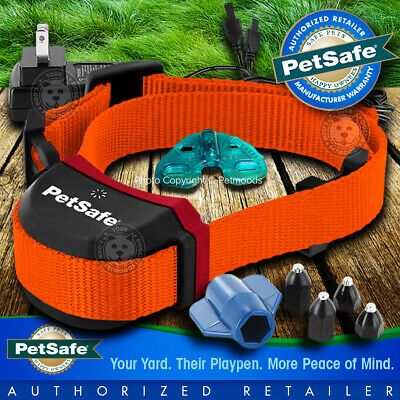 PetSafe Stubborn Stay and Play Rechargeable Wireless Neon Orange Collar Strap