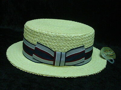 Barbershop Gatsby Boater Boardwalk Empire Roaring 20s style straw hat S to XL