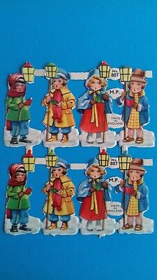 vintage original  MP 1950s   lantern  children scraps  sheet  no 807