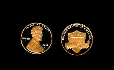 2010 S Lincoln Shield Cent Gem Proof Cameo Roll Penny (50)