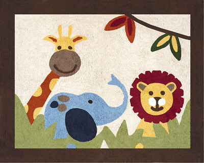 Boys Baby Kids Floor Rug for Sweet Jojo Jungle Time Animal Safari Bedding Sets