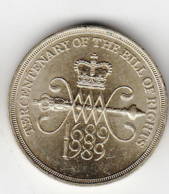 Gb £2 1989 Bill Of Rights Ef+         39N        By Coinmountain