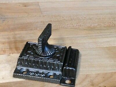Antique Vintage Cast Iron Ornate Victorian Eastlake Latch Lock Part