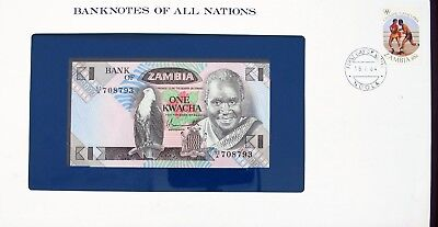 Zambia - 1980 - One Kwacha - Cu -  Banknotes Of All Nations 7635