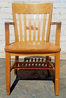 Antique Vintage Windsor Style Bankers Wooden The Sikes Company Chair