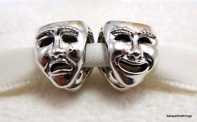 New/tags Authentic Pandora Silver Charm The Worlds A Stage Theatre Mask #791177